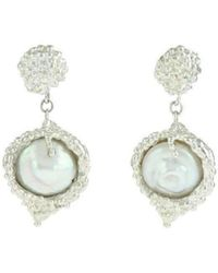 Militza Ortiz - Organica Double Silver Pearl Earring - Lyst