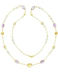 Marmalade Fine Jewellery - 18kt Yellow Gold Multi Gemstone Long Necklace - Lyst