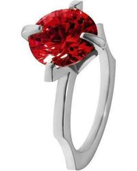 Luke Goldsmith - Red Cubic Zirconia Cocktail Ring - Lyst