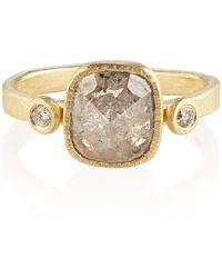 Shakti Ellenwood Trinity 18kt Fairtrade Gold and Diamond Rings - UK U - US 10 1/4 - EU 62 3/4 - Rose z2yV4