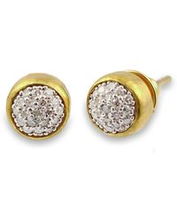 Gurhan - Small Amulet Pave Stud Earrings - Lyst