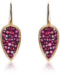 Joke Quick - Starstruck Earrings With Rubies - Lyst