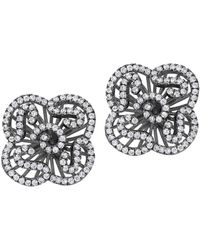 Fei Liu - Cascade Mini Earring Studs In Black Rhodium - Lyst
