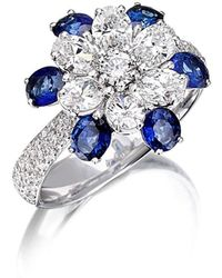 Pinomanna - Mama Non M'ama Collection Ring - Diamonds And Sapphires - Lyst