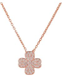 LÁTELITA London - Rose Gold Plated Lucky Four Leaf Clover Necklace - Lyst