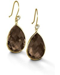 BCOUTURE - Smoky Topaz With White Topaz Accent Drop Earrings - Lyst