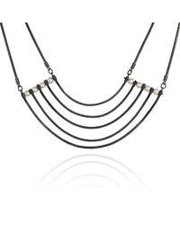 Cara Tonkin - Orbit Oxidised Silver Cosmos Necklace - Lyst