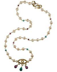Xanthe Marina - 18kt Gold Evil Eye Necklace - Lyst