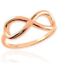 QP Jewellers - Infinity Eternity Ring In 9kt Rose Gold - Lyst