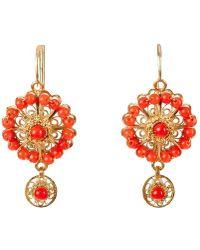 Luis Mendez Artesanos | Rose Circle Earrings | Lyst