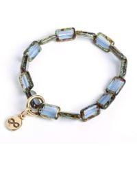 Eva Michele Sapphire Blue Infinity Bracelet