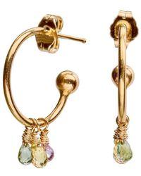 Nadean Designs - 18kt Gold Sapphire Hoop Jasmine Earring - Lyst