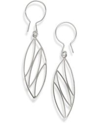 Janice Zethraeus - Silver Almond Earrings - Lyst