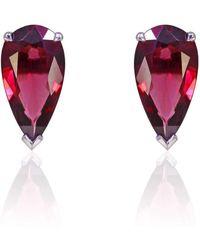 Flawless Jewellery - Rhodolite Pear Earrings - Lyst