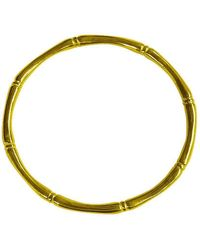 Murkani Jewellery - Bamboo Round Bangle In 18kt Yellow Gold Plate - Lyst