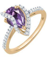 Arya Esha - Veela Amethyst And Diamond Ring - Lyst