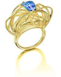 Elaine McKay Jewellery - Ricard 14kt Gold Topaz Ring - Lyst