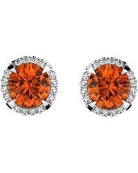 MARCELLO RICCIO - 18kt Gold, Diamond & Spessartite Garnet Earrings - Lyst