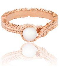 Vurchoo - Caleb Floral Rose Gold Vermeil And Pearl Ring - Lyst