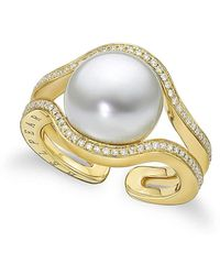 BELPEARL - A Pearl Legacy | Kobe South Sea Ring With Diamonds | Lyst
