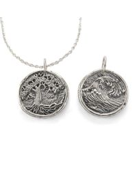 House of Alaia - Tree Of Life-wave Traveller's Coin Necklace - Lyst