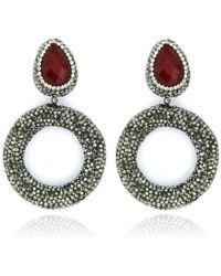 Cosanuova - Ruby Drop Earrings - Lyst
