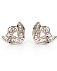 AMMA Jewelry - White Gold Filigree Amour En Cage Earrings | - Lyst