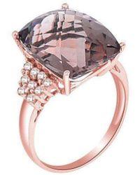 H.Azeem - Smoky Quartz Rose Gold Ring - Lyst