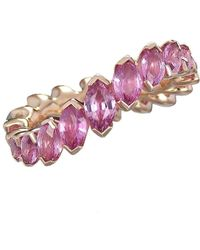 Baenteli - Rose Gold & Pink Sapphire River Ring | - Lyst