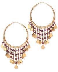 Mara Hotung - Gypsey Garnet Earrings 18kt Yellow Gold - Lyst