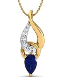 Diamoire Jewels Conspicuous Sparkly Diamond Pendant in 10Kt White Gold 6tSVvy
