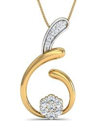 Diamoire Jewels Hand-carved Quality 14kt Rose Gold and Diamond Pendant in a Pave Setting 55x2wwjxKL