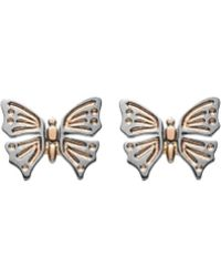 Luke Goldsmith - Rose Gold Butterfly Studs - Lyst