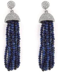 Cosanuova - Lapis Tassel Earrings - Lyst