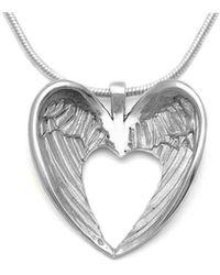 Annika Rutlin - Halo Winged Heart Necklace - Lyst
