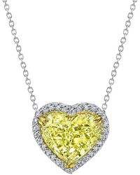Harry Kotlar - Heart Shape Diamond Solitaire Arabesque Necklace - Lyst