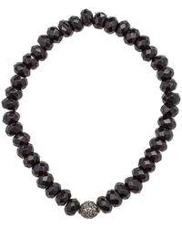 Heather Kenealy Jewelry   Black Onyx And Pave Diamond Bracelet   Lyst
