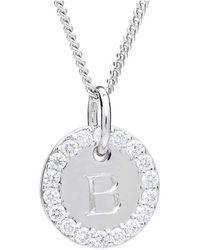 Alexis Kletjian - Classic Platinum Diamond Initial Charm - Lyst