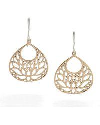 House of Alaia Large Lotus Flower Earrings In Silver 5buP5ljFx