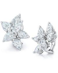 David Gross - Cluster Pear Shape Diamond Earrings - Lyst