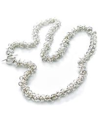Hiho Silver - Sterling Silver Cascading Multi Rings Necklace - Lyst