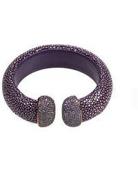 LÁTELITA London - Stingray Cuff Rose Gold Plum Purple - Lyst