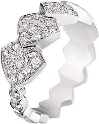 Akillis - Python White Gold Diamond Tatou Ring - Lyst