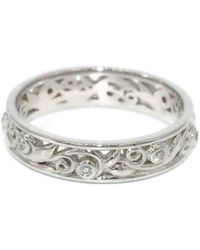 Custom Made By Irina - White Gold Leaves And Vines Ring - Lyst