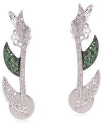 Meghna Jewels - Claw Tsavorite Ear Cuffs - Lyst