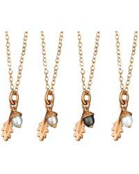 Amanda Cox Jewellery - 18kt Rose Gold Vermeil Small Acorn Pendant - Lyst