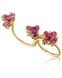 Madstone Design - Rhodolite Melting Ice Convertible Single-double Ring - Lyst