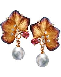Chekotin Jewellery | Beautiful Pearl Eden Earrings | Lyst