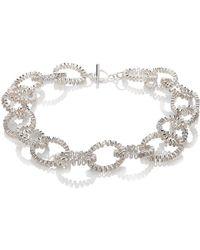 Karen Fox - Oval Ruffle Link Necklace - Lyst