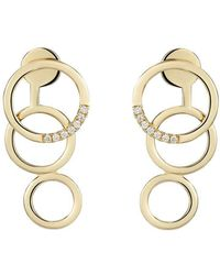 Mishanto London - Pair Of Yellow Gold & Diamond Embrace Earrings - Lyst